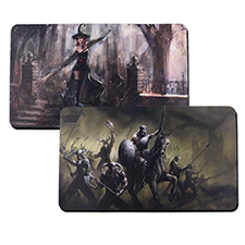 Custom Imprint 14X24 Rubber Game mat, 2-sides