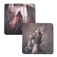 Custom Imprint 18X18 Rubber Game mat, 2-sides