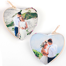 Custom Photo Heart-Shaped Coin Purse