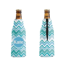 Zig Zag Personalized Bottle Cooler