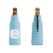 Aqua Moroccan Personalized Bottle Cooler