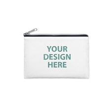 3.5x6 Custom Photo Glitter Text Cosmetic Bag, Silver Zipper (Custom 2-sides)