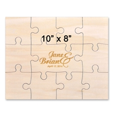 10 x 8 Wooden Engraved Jigsaw Puzzle  (11 piece)