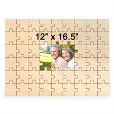 12 x 16.5 Personalized Printed Middle Wooden Guestbook Puzzle (49 pieces)