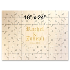 18 x 24 Engraved Guestbook Wooden Jigsaw Puzzle (59 pieces)