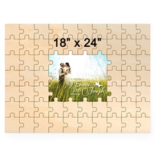 18 x 24 Personalized Printed Middle Wooden Guestbook Puzzle (59 pieces)