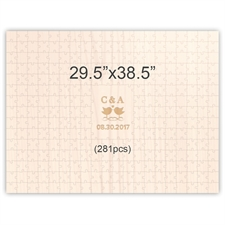 29.5 x 38.5 Custom Engraved Wooden Guest Book Puzzles (281 pieces)