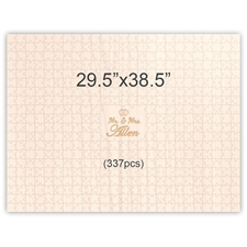 29.5 x 38.5 Engraved Wooden Wedding Guest Book Puzzles (337 pieces)
