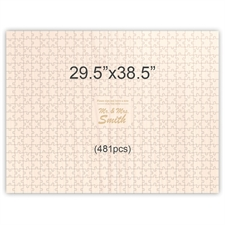 29.5 x 38.5 Personalized Engraved Wooden Guest Book Puzzles (481 pieces)