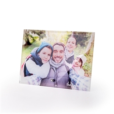Personalized 7 x 5 Photo Glass Print with Stand, Landscape