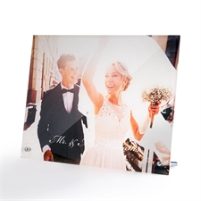 Customize 10 x 8 Photo Glass Print with Stand, Landscape