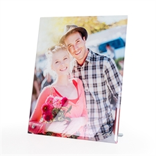 Design Your Own 8 x 10 Photo Glass Print with Stand, Portriat