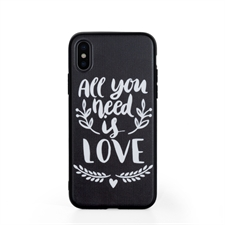 Custom Design Phone Case with Black Liner for iPhone X