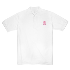 Custom White Adult XS Embroidered Polo Shirt