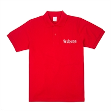 Customizable Red XS Embroidered Polo Shirt