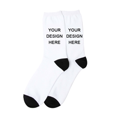 Create Your Own Unisex Photo Socks, Large