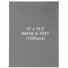 1000 Piece Custom 12 x 16.5 Jigsaw Puzzle - Portrait
