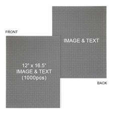 Double-Sided Personalized 12 x16.5 1000pcs Mini Puzzle - Portrait