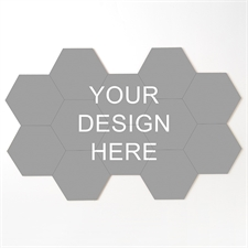 Personalized Hexagon Coaster Puzzle Tiles, Set of 12 Pieces