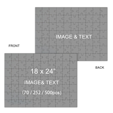 2 in 1 Double-Sided 18 x 24 Photo Puzzles, Landscape