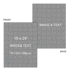2 in 1 Double-Sided 18 x 24 Photo Puzzles, Portrait