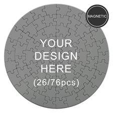 Magnetic Custom Round Puzzles 7 1/4 dia
