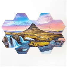 Design Your Own Hexagon Coaster Puzzle Tiles  Set of 12 Pieces