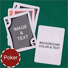 My Own Poker Modern Custom 2 Side Message Playing Cards