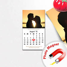Create Portrait Save The Date Photo Calendar 2x3.5 Card Size Magnet