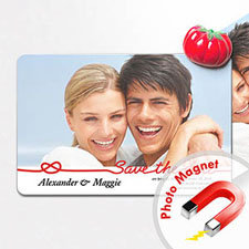 Personalized Fridge 4x6 Large Save The Date Magnets, Fun Red