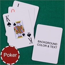 My Own Poker Jumbo Index Background Color & Text Playing Cards