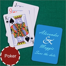Wedding Message Poker Size Standard Index