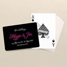 Wedding Poker Size Personalized Standard Index Landscape