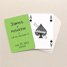 Bridge Style Personalized Wedding Playing Cards