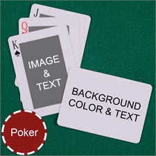My Own Poker Classic Custom 2 Side Landscape Message Playing Cards