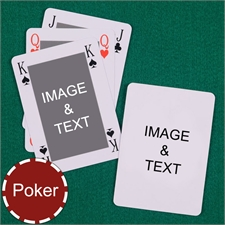 My Own Poker Classic Bridge Style Custom 2 Side Message Playing Cards