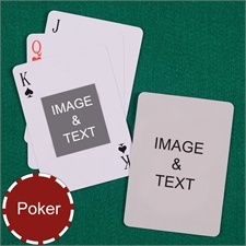 My Own Poker Centre Portrait Custom 2 Side Playing Cards