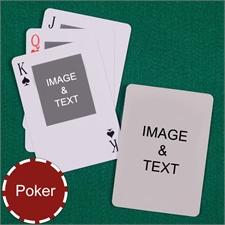 Poker Size Top Portrait Photo Custom 2 Sides