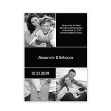 Create Cards For My Save The Date, 3 Pictures Collage Black