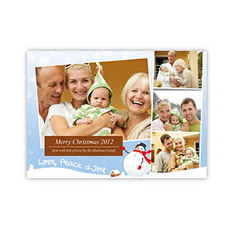 Create Your Own Photo Invitation Cards, Love, Peace And Joy Invitations