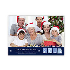Create Your Own 5X7 Photo Stationery Cards, Colorful Snow Holiday Invitations