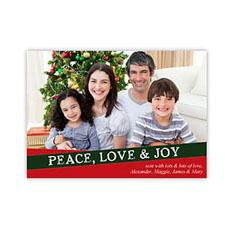 Create Your Own Seasonal Photo Cards, Love Joy Peace Invitations