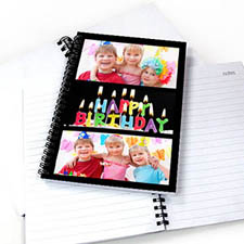 Create Your Own Black Three Collage Notebook