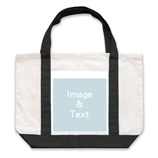 Classic Photo Personalized Tote Bag, Black