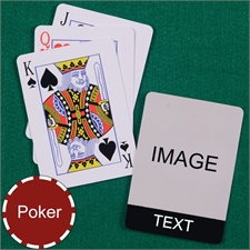 Personalized Poker Black Standard Index Playing Cards