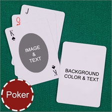 Poker Size Ovate Personalized Message Custom 2 Sides Playing Cards