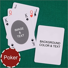 Poker Size Bridge Style Ovate Personalized Message Custom 2 Sides Playing Cards