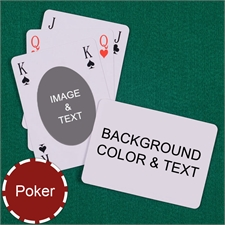 Poker Bridge Style Ovate Custom 2 Side Landscape Message Playing Cards