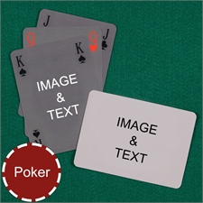 Poker Simple Bridge Style Custom 2 Side Landscape Playing Cards