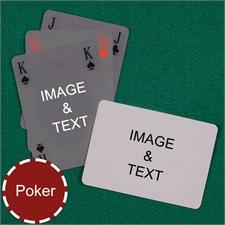 Poker Simple Bridge Style Custom 2 Side Landscape Playing Cards